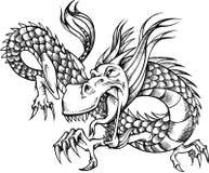 ilustracja niepełne,/dragon Zdjęcia Stock