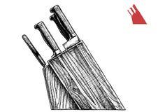 Ilustracja noża blok ilustracja wektor