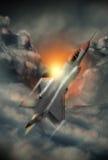 Ilustracja nowożytny 5th pokolenie samolot Obraz Stock