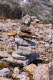 ilustracja odizolowywać przedmiotów palowe skały Obraz Stock