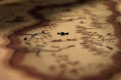 ilustracja odizolowywający mapy skarbu wektoru biel Fotografia Royalty Free