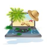 Ilustracja odosobniony laptop Fotografia Stock