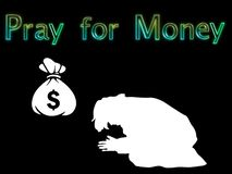 Ilustracja ono Modli się Dla pieniądze ilustracji