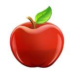 Ilustracja: Owoc Ustawiająca: Czerwony Apple Obraz Royalty Free