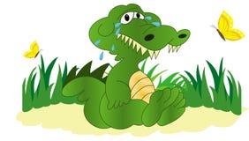 Ilustracja płaczu krokodyl ilustracji
