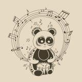 Ilustracja panda muzyk Obraz Royalty Free