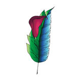 Ilustracja piórka/kwiat Royalty Ilustracja