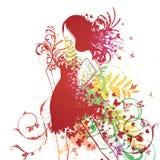 Mody kobieta ilustracja wektor
