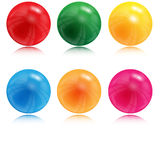 Ilustracja piłki różny kolor Obraz Stock