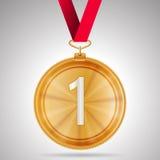 Ilustracja pierwszy miejsce medal Fotografia Stock