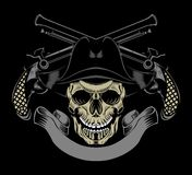 Ilustracja pirat czaszka Obraz Royalty Free