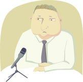 Polityk z mikrofonem Zdjęcie Royalty Free