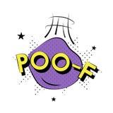 Ilustracja ` POO-F ` typografia na białym tle Zdjęcia Royalty Free