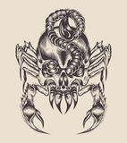 Ilustracja potwora skorpion Zdjęcia Royalty Free