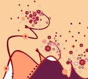 ilustracja pozyskiwania kwiecista Obrazy Royalty Free