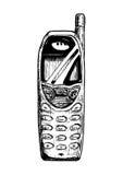 Ilustracja prętowy telefon royalty ilustracja