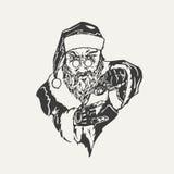 Ilustracja przestępstwo Święty Mikołaj royalty ilustracja