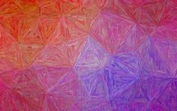 Ilustracja purpurowy i czerwony Kolorowy Impastowy tło obrazy royalty free
