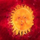 ilustracja Pyzaty i śmieszny słońce Obraz Royalty Free