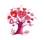 Ilustracja różany i kierowy w valentine ` s dniu Obraz Royalty Free