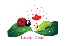 Ilustracja różany i kierowy w valentine ` s dniu Obrazy Royalty Free
