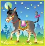 Ilustracja radosny osioł na spacerze Obraz Stock