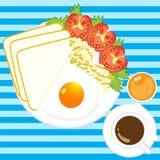Ilustracja ranku śniadanie Obraz Royalty Free