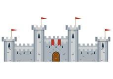 Ilustracja Średniowieczny kasztel Zdjęcie Royalty Free