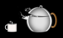 Ilustracja retro stylowy teapot Obrazy Royalty Free