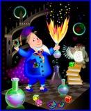 Ilustracja robi alchemii czarownik ilustracji
