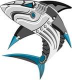 Ilustracja robota rekin obraz stock
