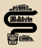 Ilustracja rocznika maszyna do pisania Obraz Royalty Free