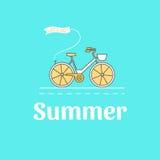 Ilustracja rower Obrazy Royalty Free