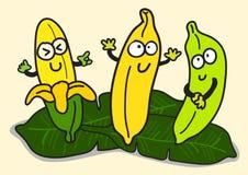 Ilustracja Rozochocony kreskówka banana charakter Zdjęcie Royalty Free