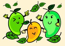 Ilustracja Rozochocony kreskówka mango charakter obraz stock