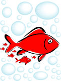 ilustracja ryb Obraz Royalty Free