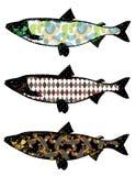 Ilustracja rybia kolekcja Obrazy Royalty Free