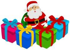 Ilustracja Santa Claus z prezentami Zdjęcia Royalty Free