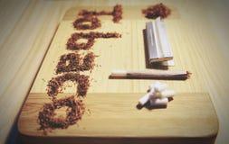 Ilustracja sfałszowany tytoń Obrazy Stock