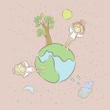 Ilustracja smutni aniołowie Zdjęcie Royalty Free