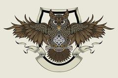 Ilustracja sowa Obrazy Stock