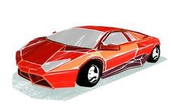 Ilustracja sporta samochód na bielu obraz royalty free