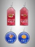 Ilustracja sprzedaży etykietki dla dziękczynienia Obraz Royalty Free