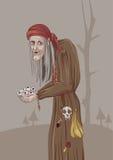 Ilustracja stara czarownica Obraz Royalty Free