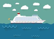 Ilustracja statek wycieczkowy Obrazy Royalty Free