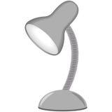 Ilustracja stołowa lampa, siwieje kolor, biały tło Ilustracji