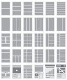 Ilustracja stron internetowych Flowcharts i miejsce mapy Obrazy Stock