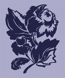 Ilustracja stylizowana flover dalia obrazy stock