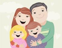 Ilustracja szczęśliwa rodzina Obraz Royalty Free