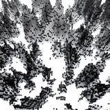 Ilustracja sześciany iść w górę i na dół Abstrakcjonistyczny śródmieście 3D odpłaca się tło ilustracji